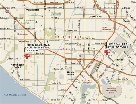 zip code map huntington beach ca procare irvine huntington beach work injury center urgent