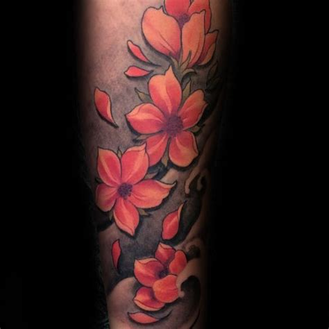cherry blossom arm tattoo 100 cherry blossom designs for floral ink ideas