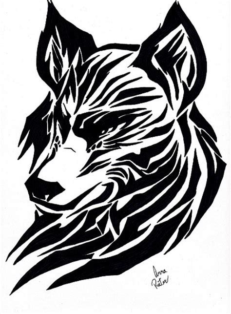 tribal wolf drawing annar 169 2018 feb 29 2012