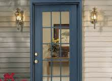 shop entry doors at lowe s steel and wood exterior doors