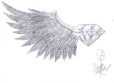 diamond with wings tattoo designs 10 breast designs