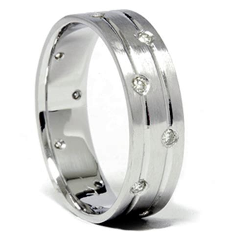 mens comfort fit wedding rings mens white gold diamond comfort fit wedding ring band