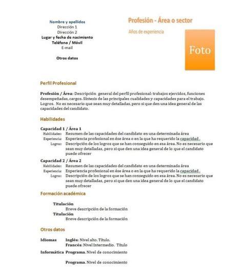 Modelo De Curriculum Vitae Para Completar Con Mis Datos C 243 Mo Hacer Un Curr 237 Culum Vitae Funcional 6 Pasos