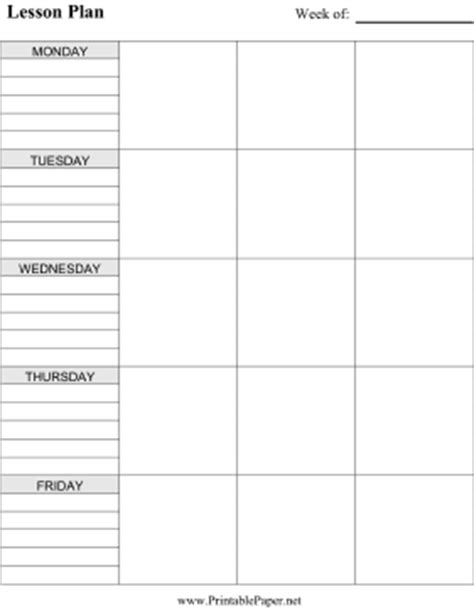 Galerry free printable lesson planner template