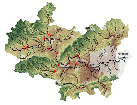 river thames catchment map the river thames initiative centre for ecology hydrology