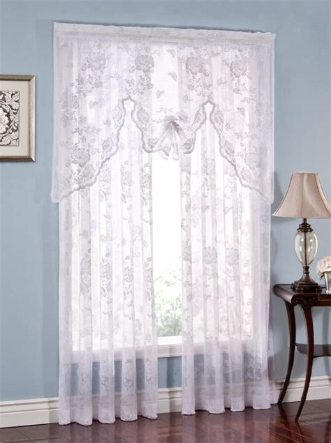 White Valance Curtains Lace Curtains White Lorraine View All Curtains