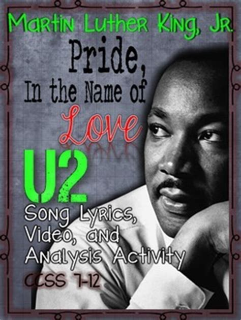 Pride In The Name Of by Martin Luther King Jr U2 S Quot Pride In The Name Of