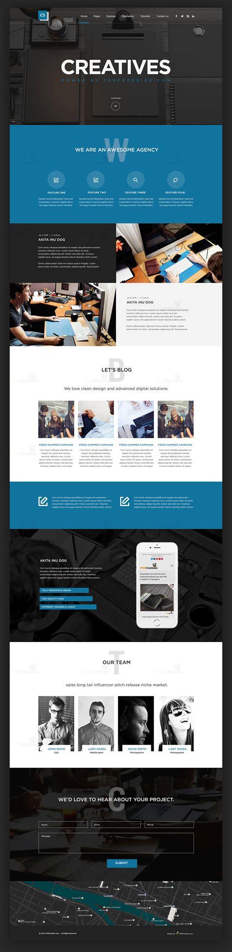 Digital Agency Template Creative Digital Agency Website Template Free Psd