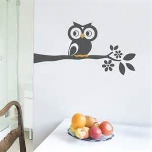 Wall Sticker Owl owl on a branch decal cute vinyl wall sticker