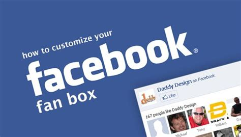 customize facebook fan how to customize your facebook fan box daddy design