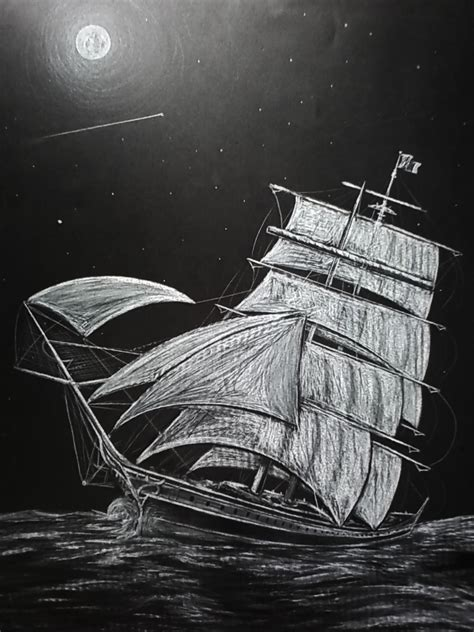ghost ship one of a original drawing on the wall foundmyself