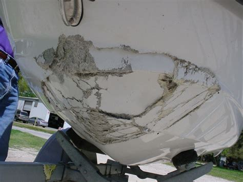 fiberglass boat repair large hole boat leaking page 1 iboats boating forums 9167105