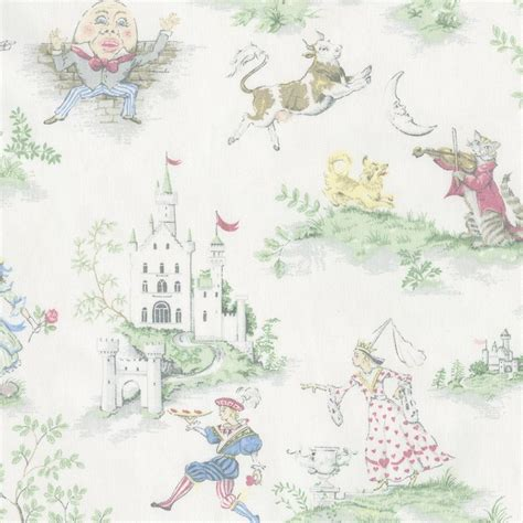 bedding fabric nursery rhyme toile fabric by the yard pink fabric carousel designs