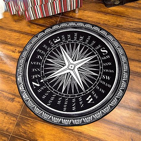Artsy Bedroom area rug with compass rose funkthishouse com funk this