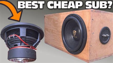 cheap  subwoofer test   rockville  car audio  aero ported box spl bass testing