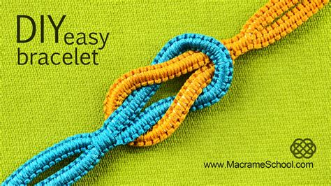 Macrame Square Knot Tutorial - easy infinity square knot bracelet tutorial