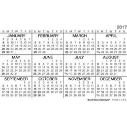 wallet calendar template 2017 wallet calendar yearly calendar template