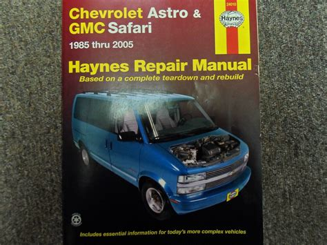 car maintenance manuals 2005 gmc safari navigation system 1985 2005 haynes chevrolet chevy astro gmc safari service repair shop manual x ebay