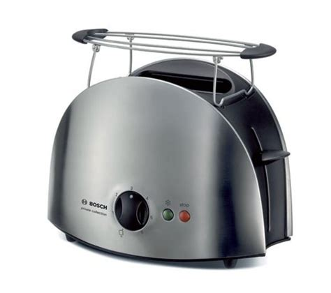 stainless steel small kitchen appliances buy bosch tat6901gb 2 slice toaster stainless steel free delivery currys