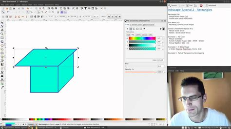 tutorial inkscape 3d inkscape tutorial 2 shapes drawing rectangles youtube