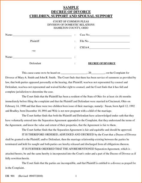 Divorce Template Best Divorce Decree Template Ideas Resume Ideas