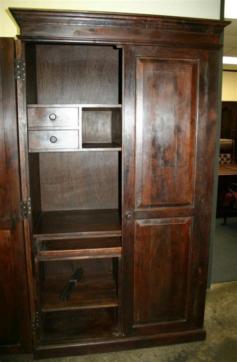 hidden desk armoire hidden armoire chest computer desk drawer cabinet ebay