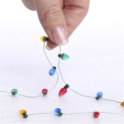 miniature christmas light bulb garland doll making