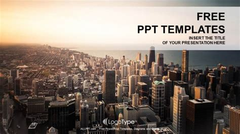 ppt templates for urban design free download rooftop view panorama at sunset ppt templates