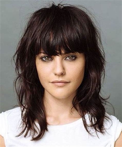 image result for blunt bangs and balayage coiffure coiffures m 232 ches et beaut 233 coupe au carr 233 pour cheveux 233 pais