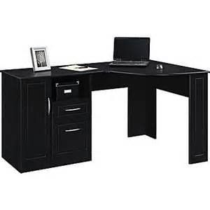 Hutch Desk Furniture Altra Chadwick Collection Corner Desk Nightingale Black