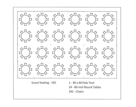 round table seating capacity 40 x 60 pole tent seating arrangements
