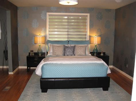 wallpaper for master bedroom master bedroom with wallpaper contemporary bedroom other by greene designs llc