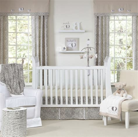 White Curtains For Nursery Gray And White Neutral Unisex Nursery Curtains