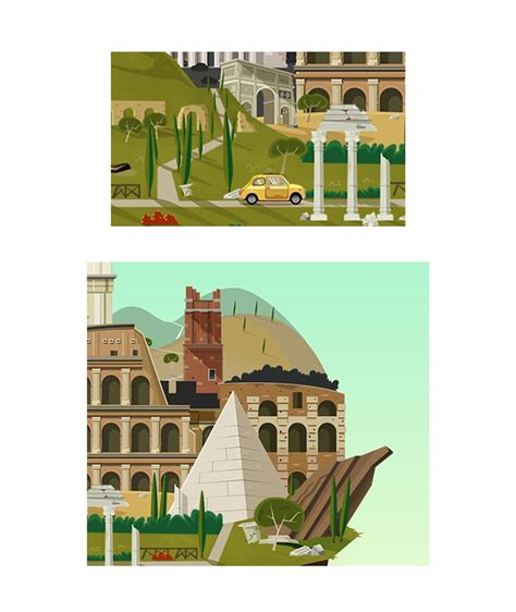 ian tiseo illustration rome sweet rome