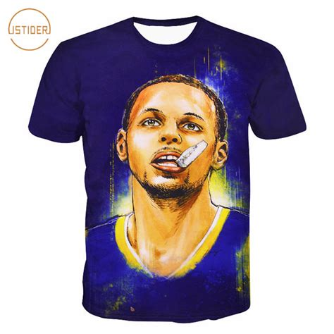 stephen curry new year t shirt istider new arrival usa player stephen curry print 3d t