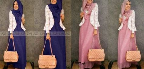 Dress Maxi Wanita Muslim Brokat Lace Import Aruna Xl dinomarket pasardino baju muslim busana wanita