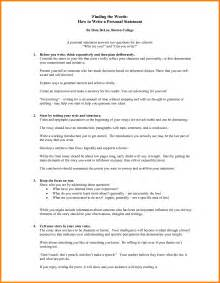 How To Write A Personal Statement For A Resume by 10 How To Write A Personal Statement For College Statement Information