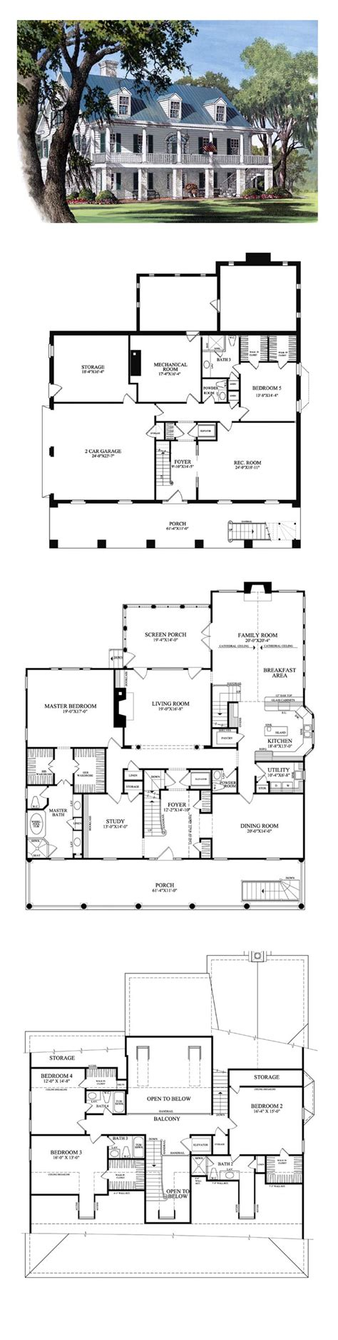 plantation homes floor plans best 25 southern plantation style ideas on