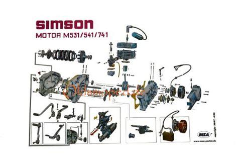 Awo 425 Explosionszeichnung by Explosionszeichnung Simson 4 Motor Oldsmoped De
