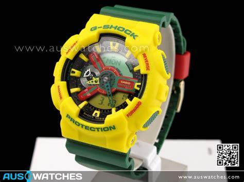 G Shock Original Ga 110rf 9adr buy casio g shock anlalog digital rastafarian limited ga 110rf 9a ga 110rf buy watches