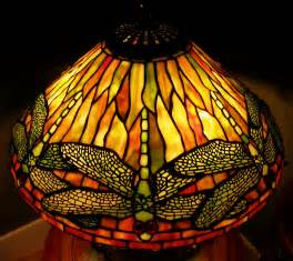 quoizel tiffany reproduction stained glass l shade dragonfly 16 quot golds ebay