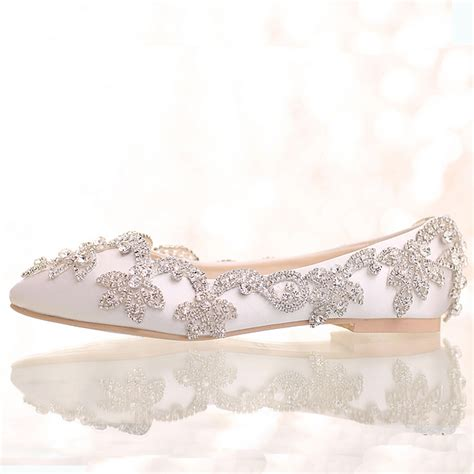 white satin flat shoes white satin wedding shoes flat heel