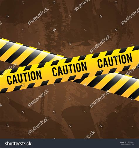 Is A Caution A Criminal Record Caution Design Brown Background Vector Stock Vector 172520945