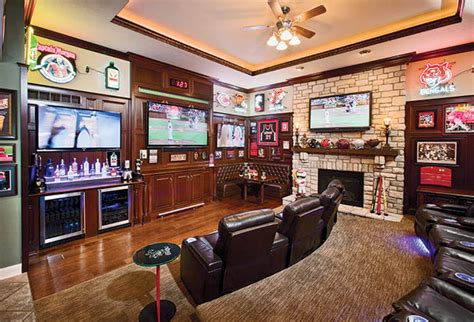 sports room furniture tvs create the ultimate cave