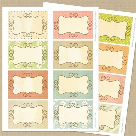 Printable Tags Scrapbooking | 6 best images of scrapbook tags templates free printables