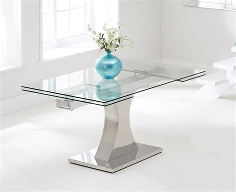 harris 160cm glass extending dining table with