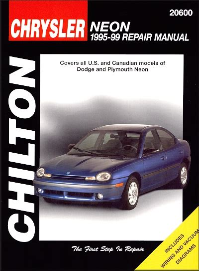 chilton car manuals free download 1996 dodge neon transmission control dodge neon plymouth neon repair manual 1995 1999 chilton 20600