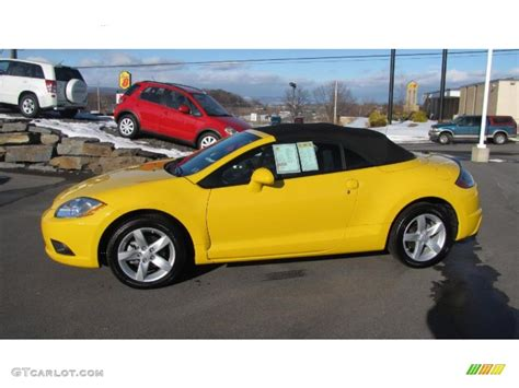 mitsubishi eclipse yellow 2009 solar satin yellow mitsubishi eclipse spyder gs