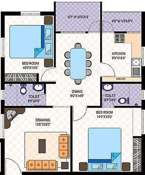 2 bhk plan in 1000 sq ft 1000 sq ft 2 bhk 2t apartment for sale in amsri central