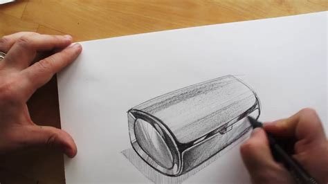 how to sketch how to draw product design sketching bluetooth speaker